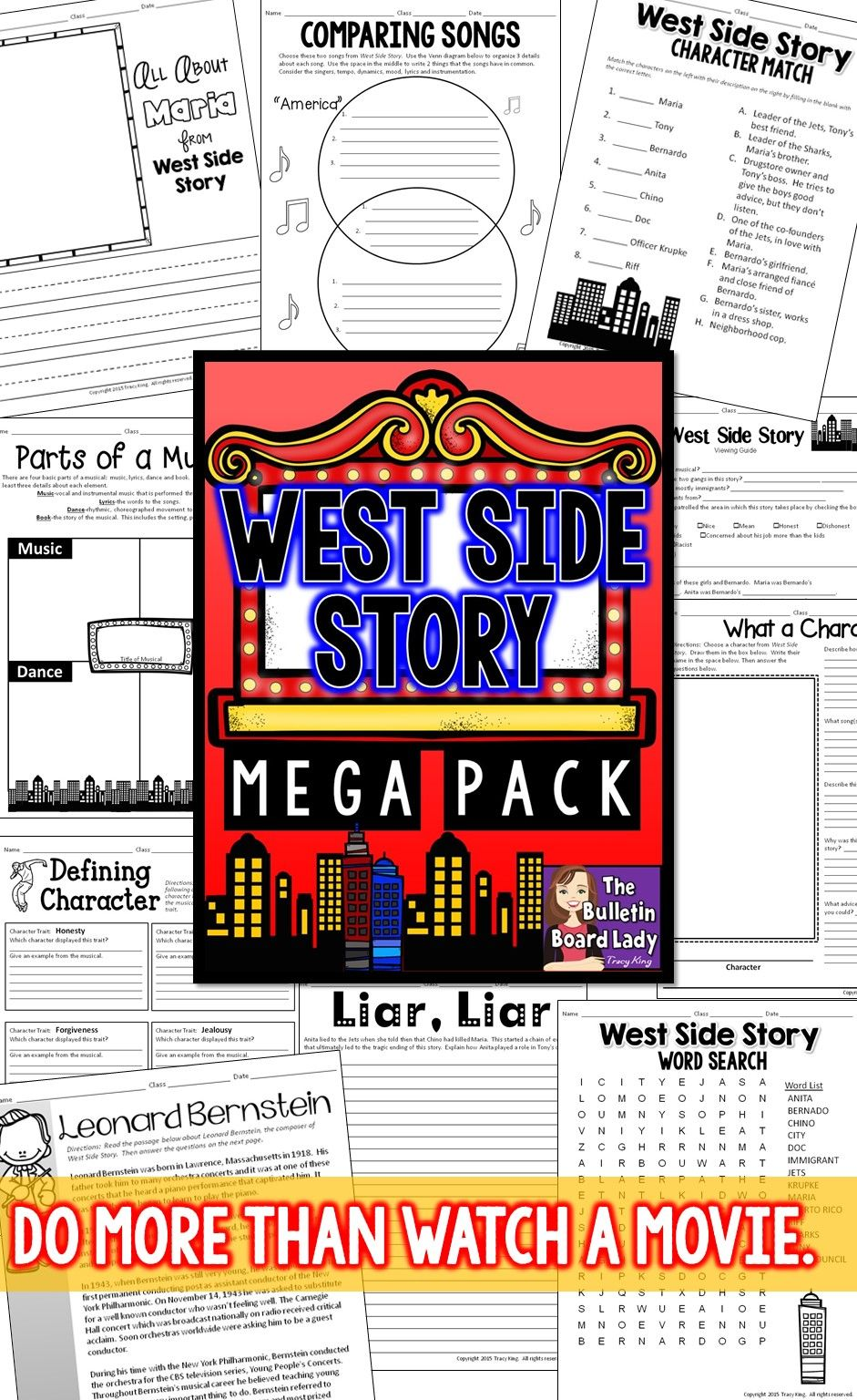 worksheet West Side Story Worksheet west side story mega pack worksheets students and school this has everything youll need to study the movie musical except video no prep make lesson plans