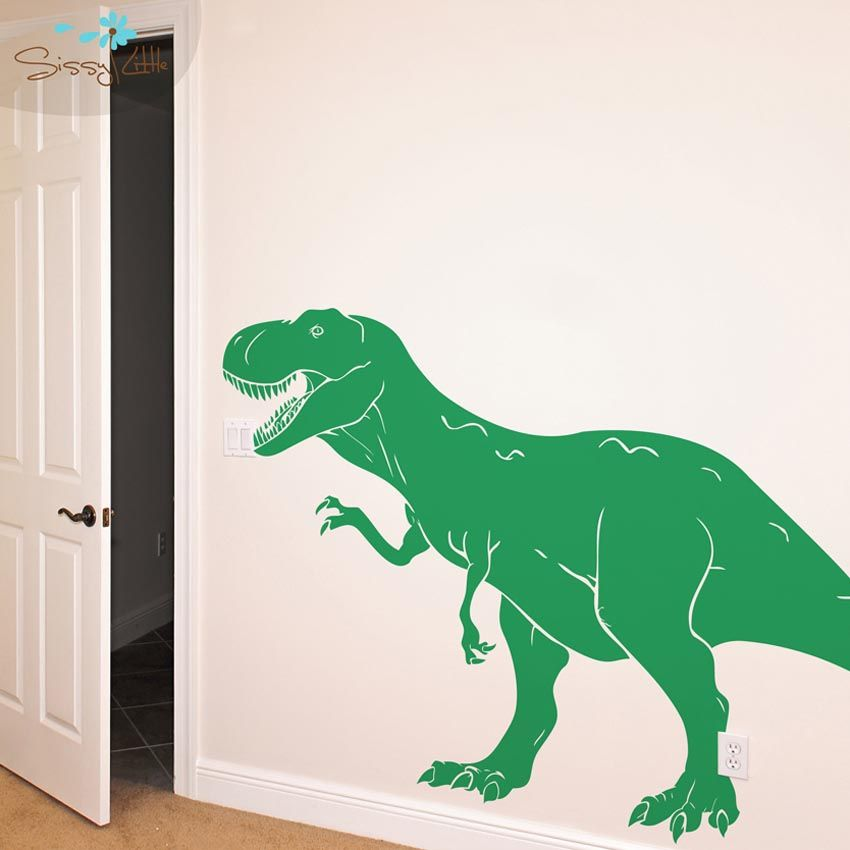 9 amusing dinosaur wall decals for kids rooms picture for Dinosaur pictures for kids room