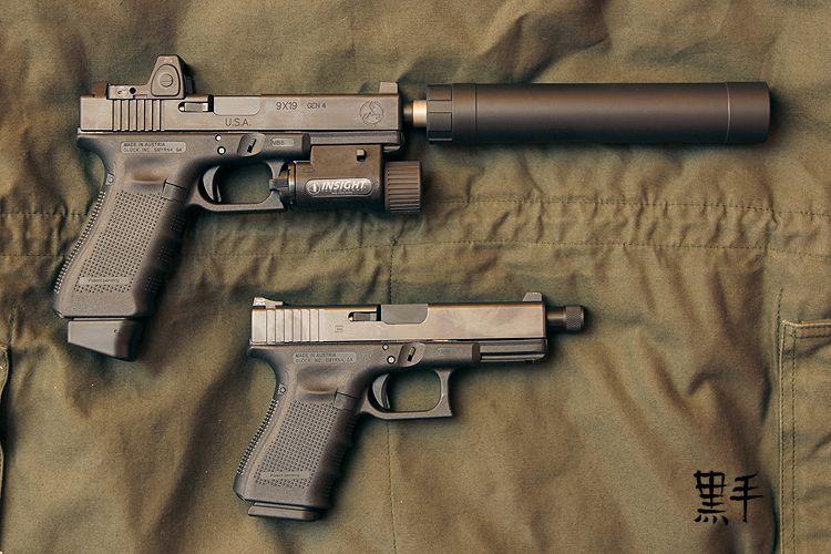 TSD Glock 17 today—an AAC Ti-Rant 9mm suppressor | Glock | Guns