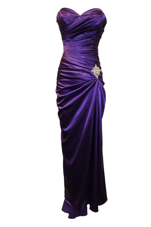 Purple prom formal dress crystal pin oh my gosh i love this dress my