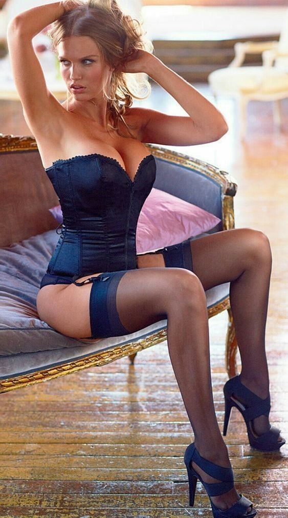 Amazing body for amazing corset, stockings and heels ...