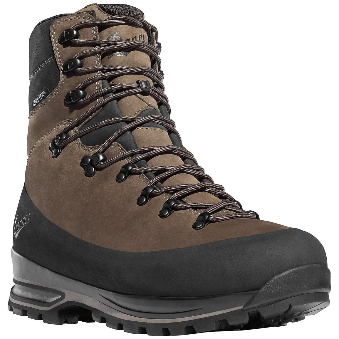 "Light II 6"" Brown Nubuck Leather (33000) Outdoor Boots  Gore-TEX (GTX) Waterproof Hiking Combat Boot  Mountain Boot  Downhill Braking and Side-Hill Traction  Made In USA"