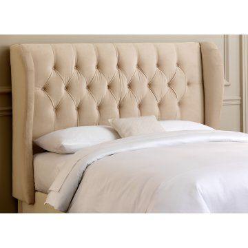 Velvet Upholstered Headboard??? from Hayneedle | Bedroom | Pinterest