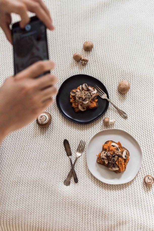 Sesame Mushroom Sweet Potato Toast