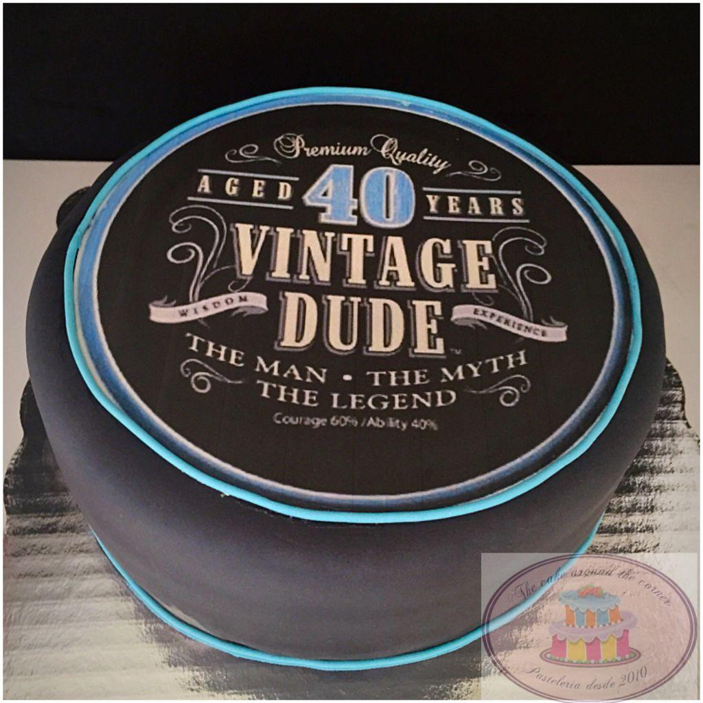 40th Vintage Dude Cake