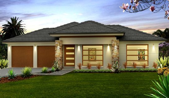 Modern single storey house designs 2016 2017 fashion for Single house front design