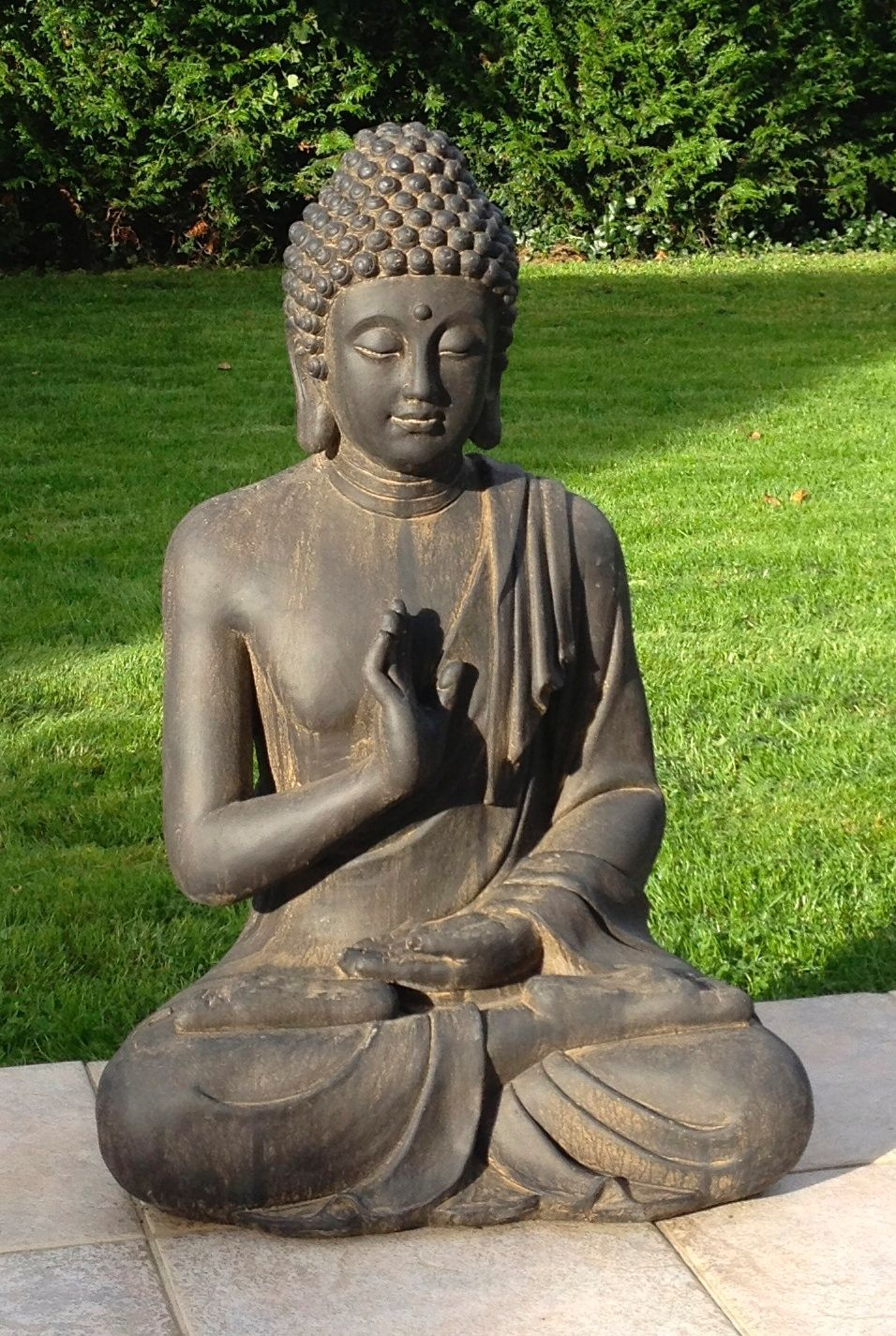 superbe statue de bouddha zen jardin 73 cm pas cher priceminister zen pinterest buddha. Black Bedroom Furniture Sets. Home Design Ideas