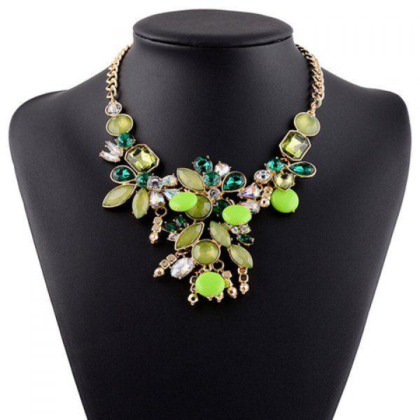 Graceful Faux Crystal Water Drop Oval Necklace For Women #women, #men, #hats, #watches, #belts, #fashion