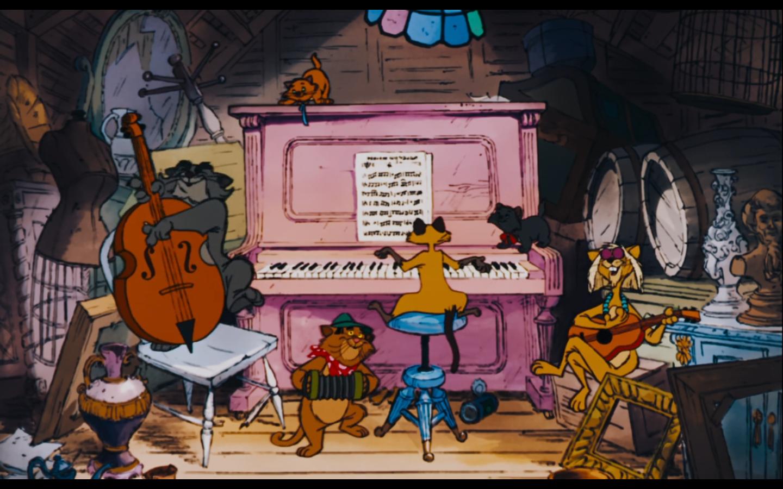 See original image cats on the piano disney movies aristocats