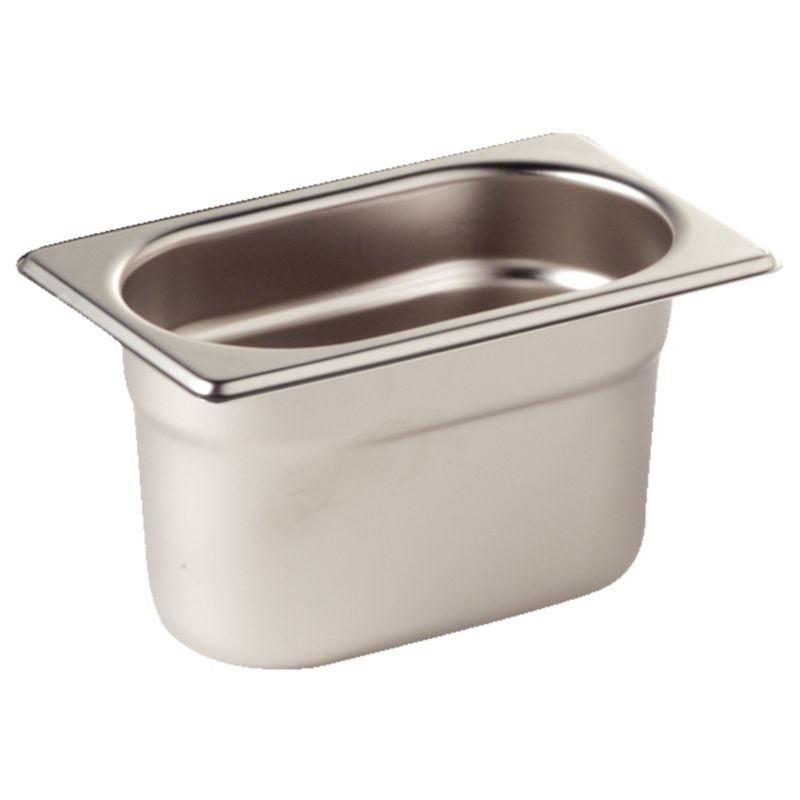 Vogue Stainless Steel 1 9 Gastronorm Pan 100mm K825 Catering Equipment Commercial Catering Equipment Kitchen Equipment