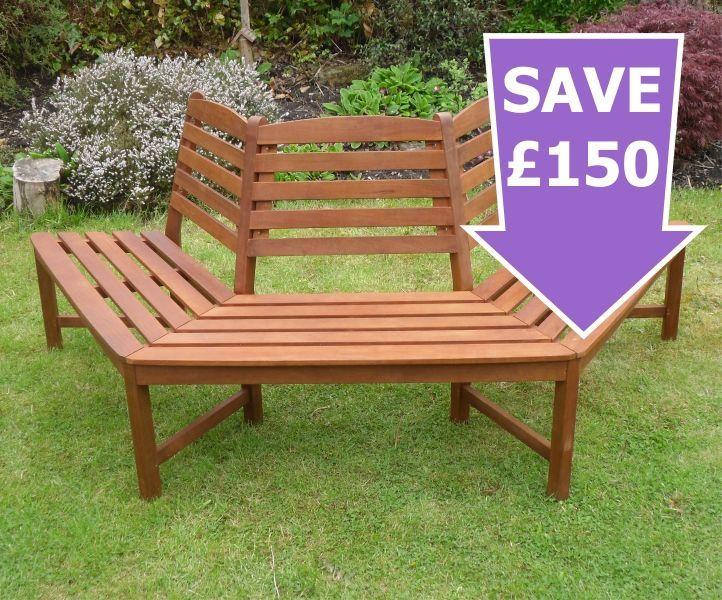 Henley 180 Degree Half Tree Seat Hardwood 1 2 Price Deal