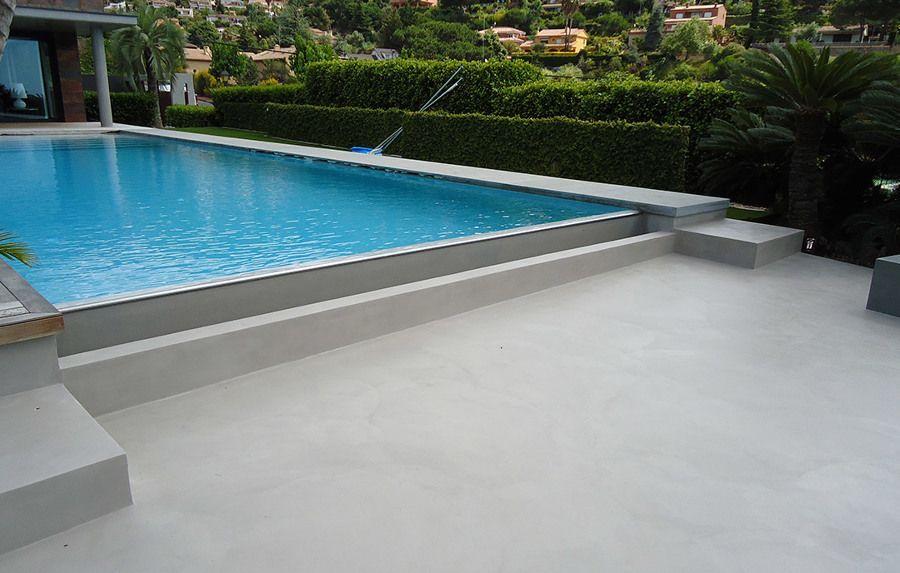 piscinas de microcemento pulido son tendencia ideas construccin piscinas - Microcemento Pulido