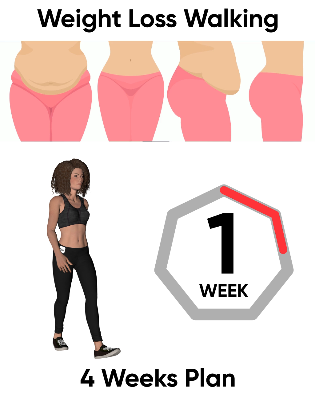 Lose the Extra Weight with 4-Week Walking Plan