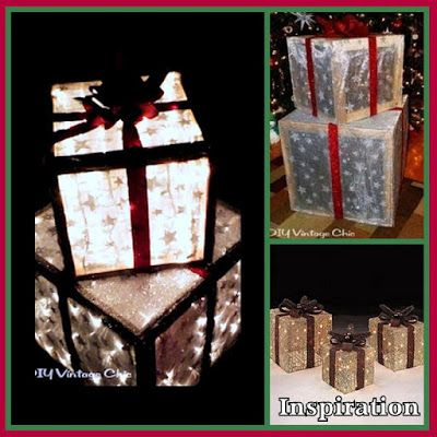 Make your own outdoor lighted christmas presents gift boxes make your own outdoor lighted christmas presents gift boxes mozeypictures Gallery