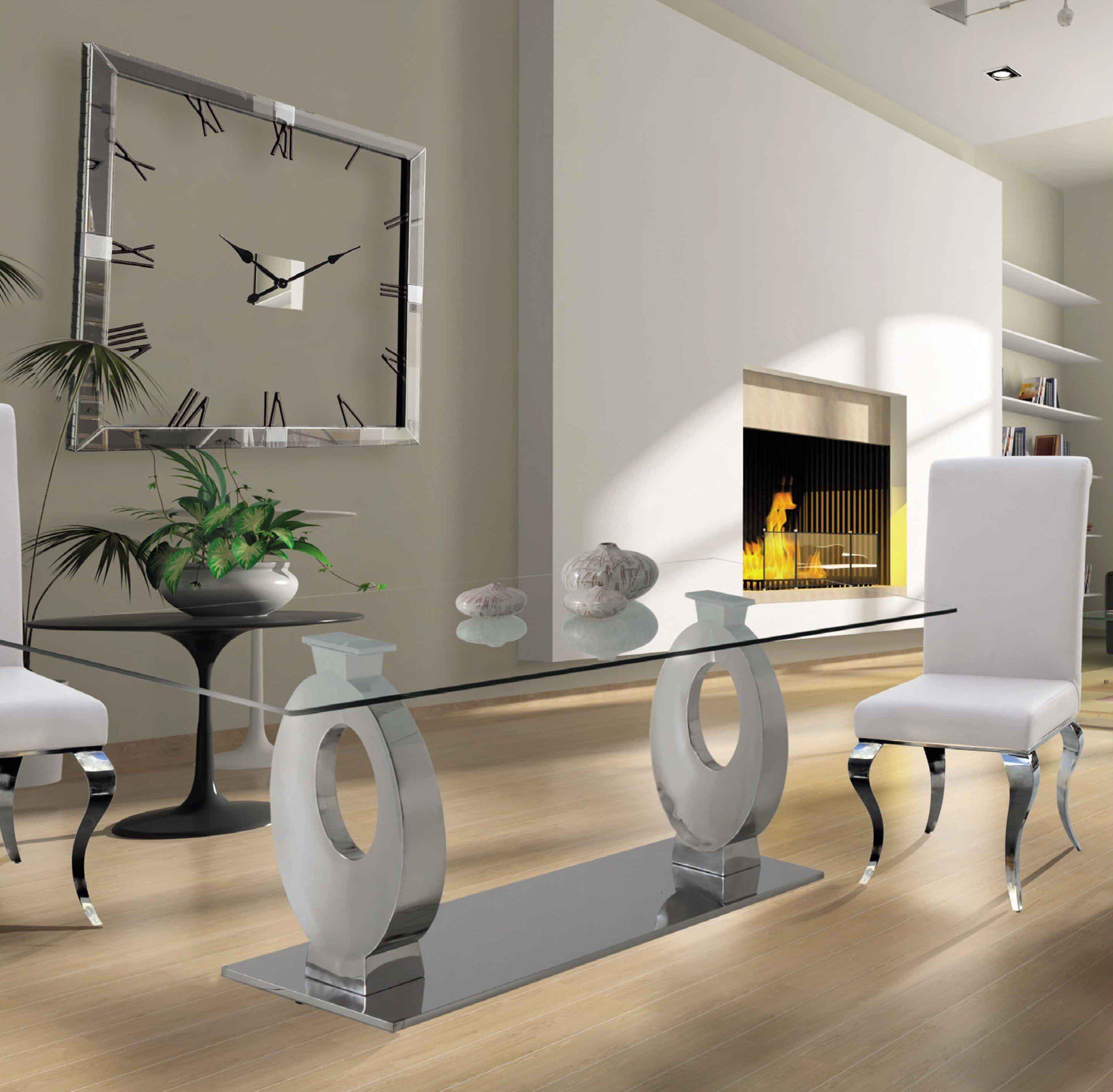 ENVIO GRATIS Original mesa comedor diseño con patas de acero ...