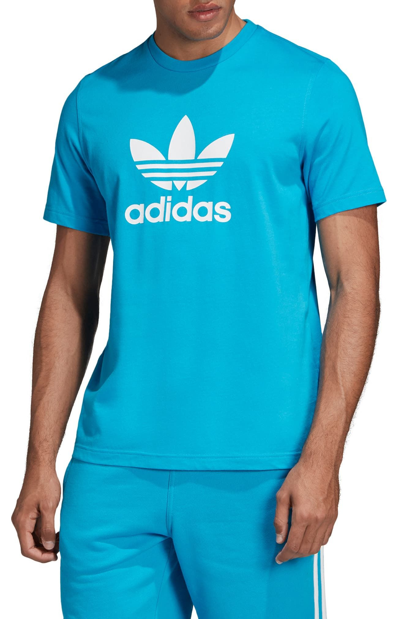 7ce7ea77 Men's Adidas Originals Trefoil Graphic T-Shirt, Size Small - Orange ...