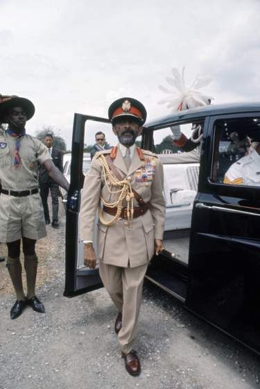 Hail! His Imperial Majesty Haile Selassie I Emperor of Ethiopia (majestic indeed!) in Jamaica on April 21, 1966 during his state visit!