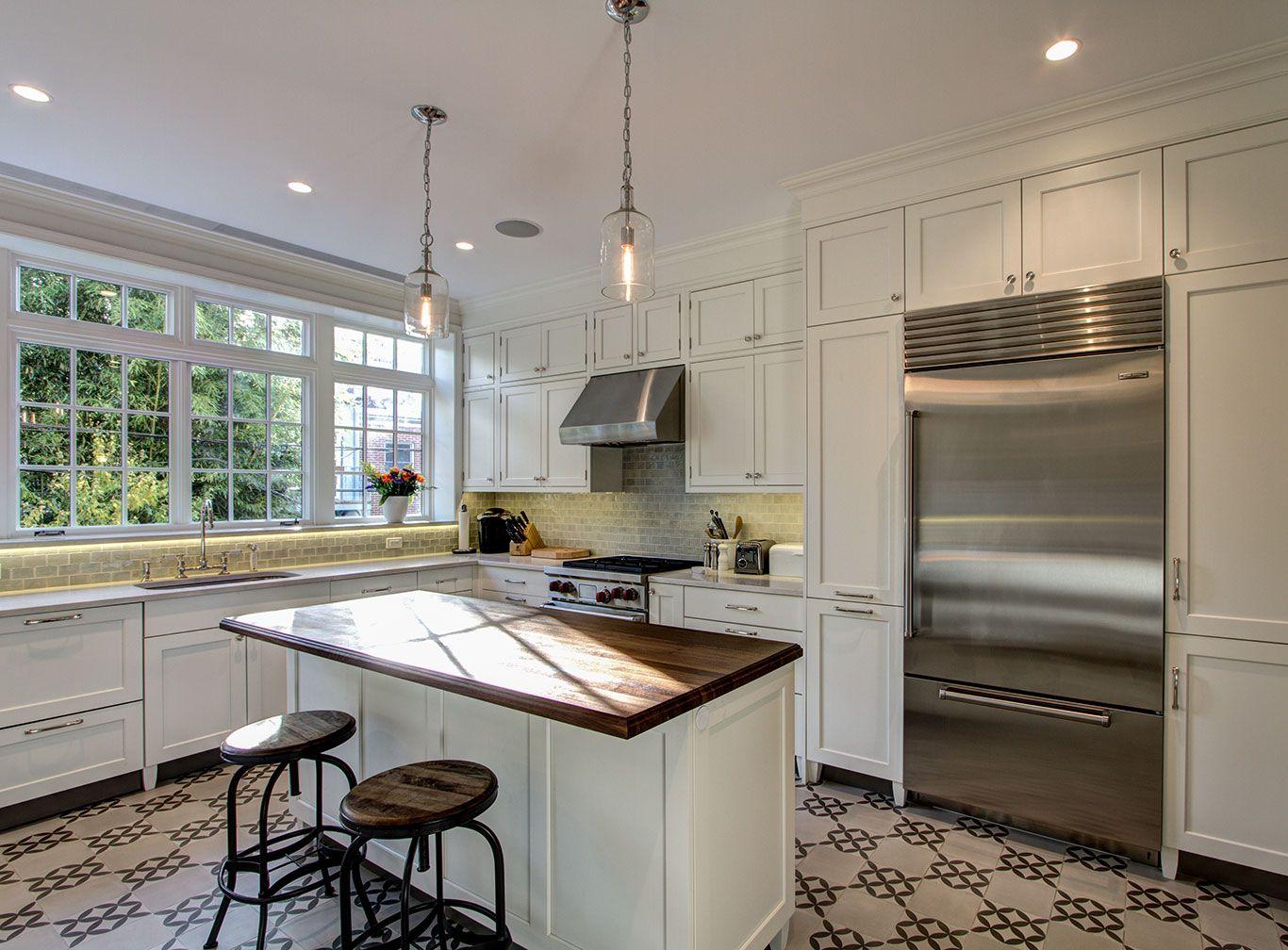 Kitchen in Brooklyn townhouse renovation. Ben Herzog, Architect ...