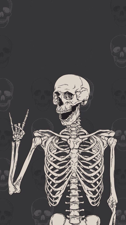 Rock Them Skull Wallpaper Skull Art Halloween Wallpaper Iphone