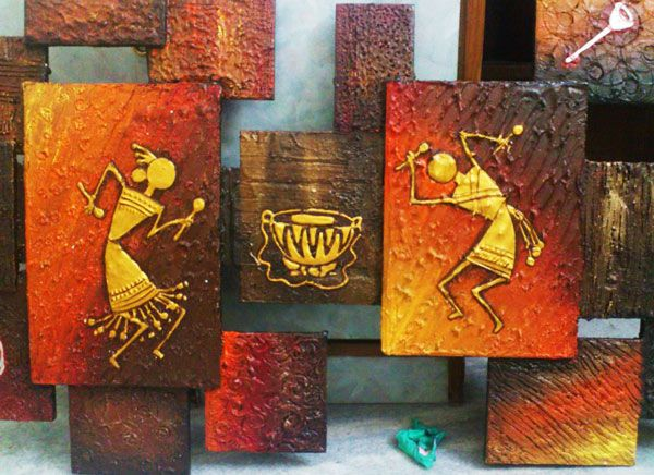 You got to try these warli painting tribal art for Room decor ulhasnagar