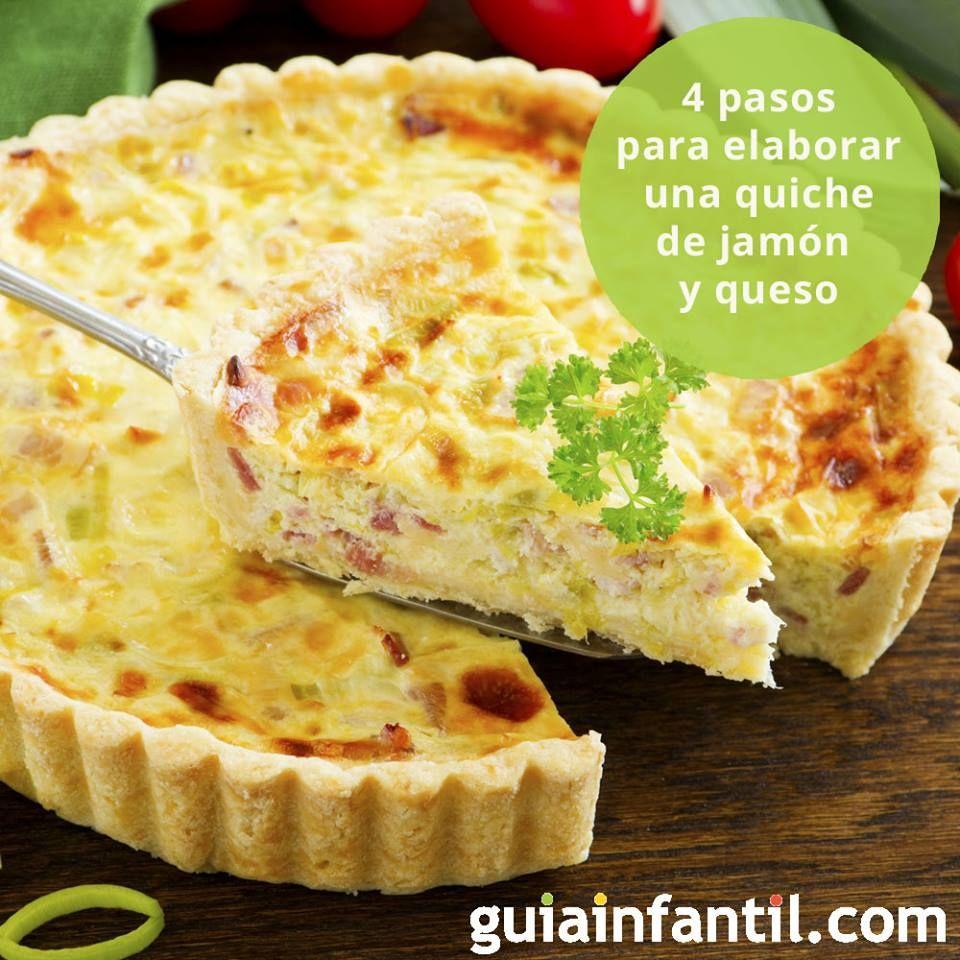La quiche de jamón y queso es un plato ideal para los niños. Te explicamos cómo cocinar una de forma muy fácil y rápida. ¡Está exquisita! http://www.guiainfantil.com/recetas/recetas-fiestas-infantiles/quiche-de-jamon-y-queso-rapida-y-sencilla/