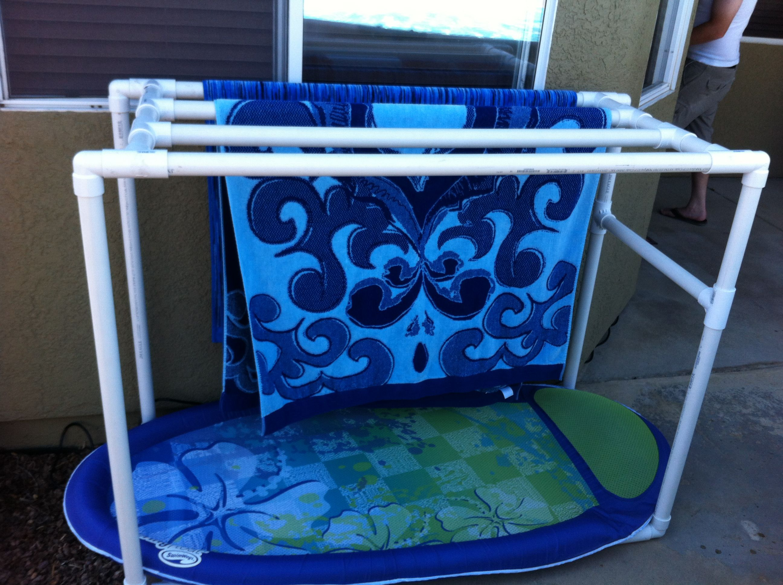Pvc Towel Rack For My Pool Home Swimming Pools 1