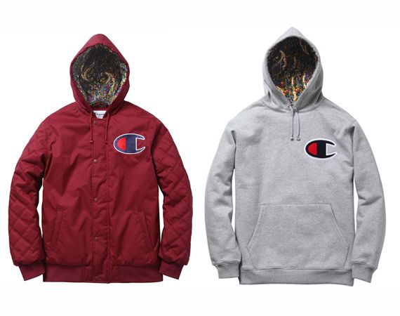 Champion x Supreme Zip Up Jacket & Pullover Hoody