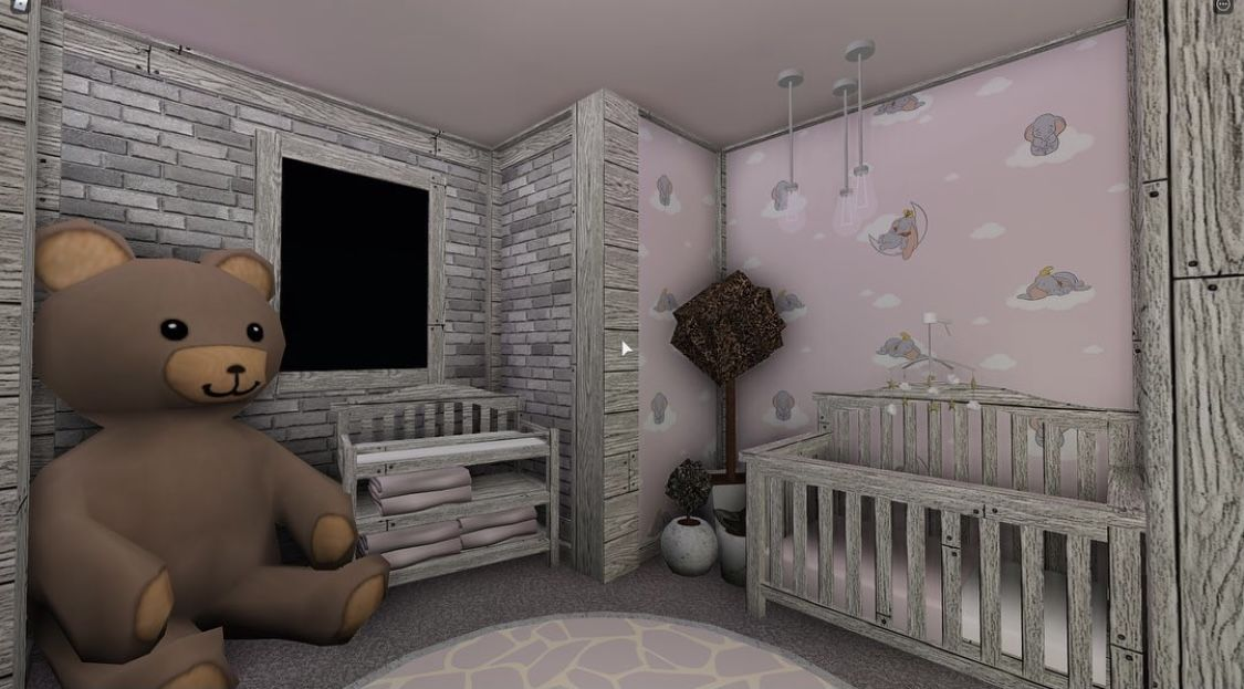 Pin By Super Twins On Bloxburg Builds And Tips ! | Nursery Room Design, Tiny House Layout, Cute Room Ideas