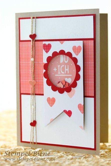 Valentinstagskarte, Schüttelkarte zum Valentinstag, Stampin Up Du und ich, Match the Sketch, Überraschung zum Valentinstag, Stampin Up Demonstrator werden, Blog Candy Stempel-Biene, Stampin Up Artikel bestellen