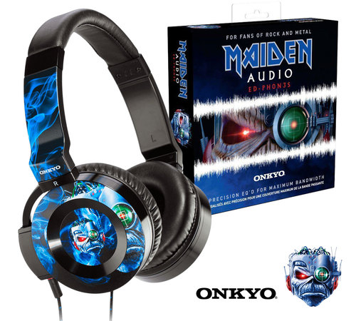 ED-PH0N3S Iron Maiden On-Ear Audio Headphones | Designed for Rock and Metal #audioheadphones