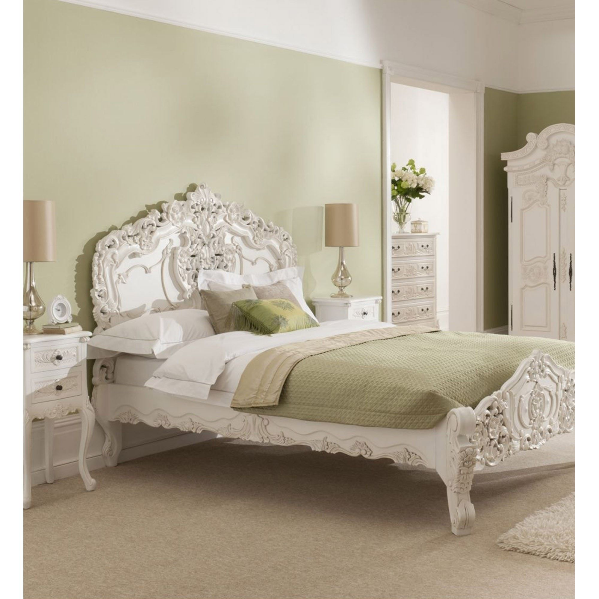 French Rococo Style Bed French style bedroom, French