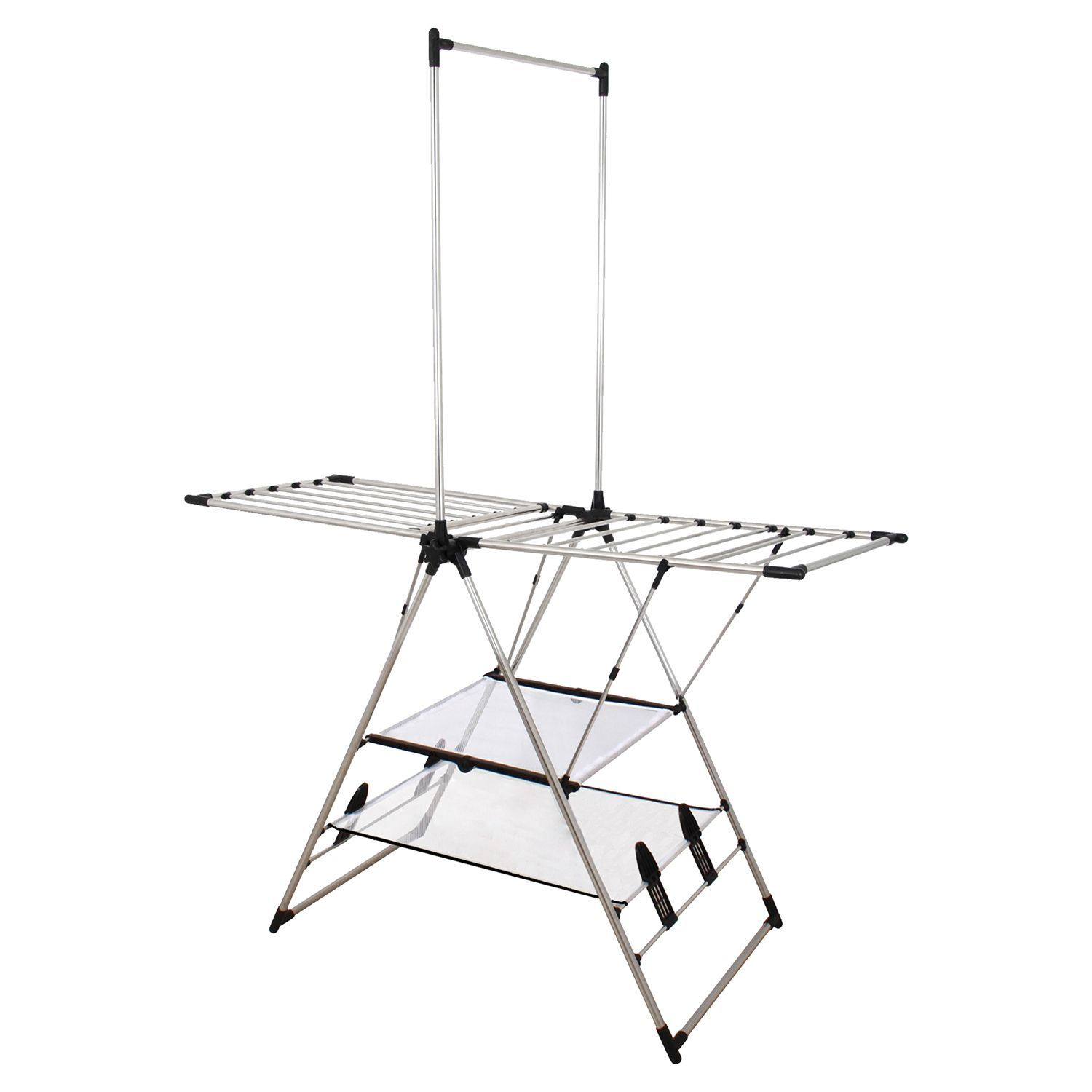 Clothes Drying Rack Costco Adorable Indooroutdoor Stainless Steel Drying Center With Double Mesh Design Ideas