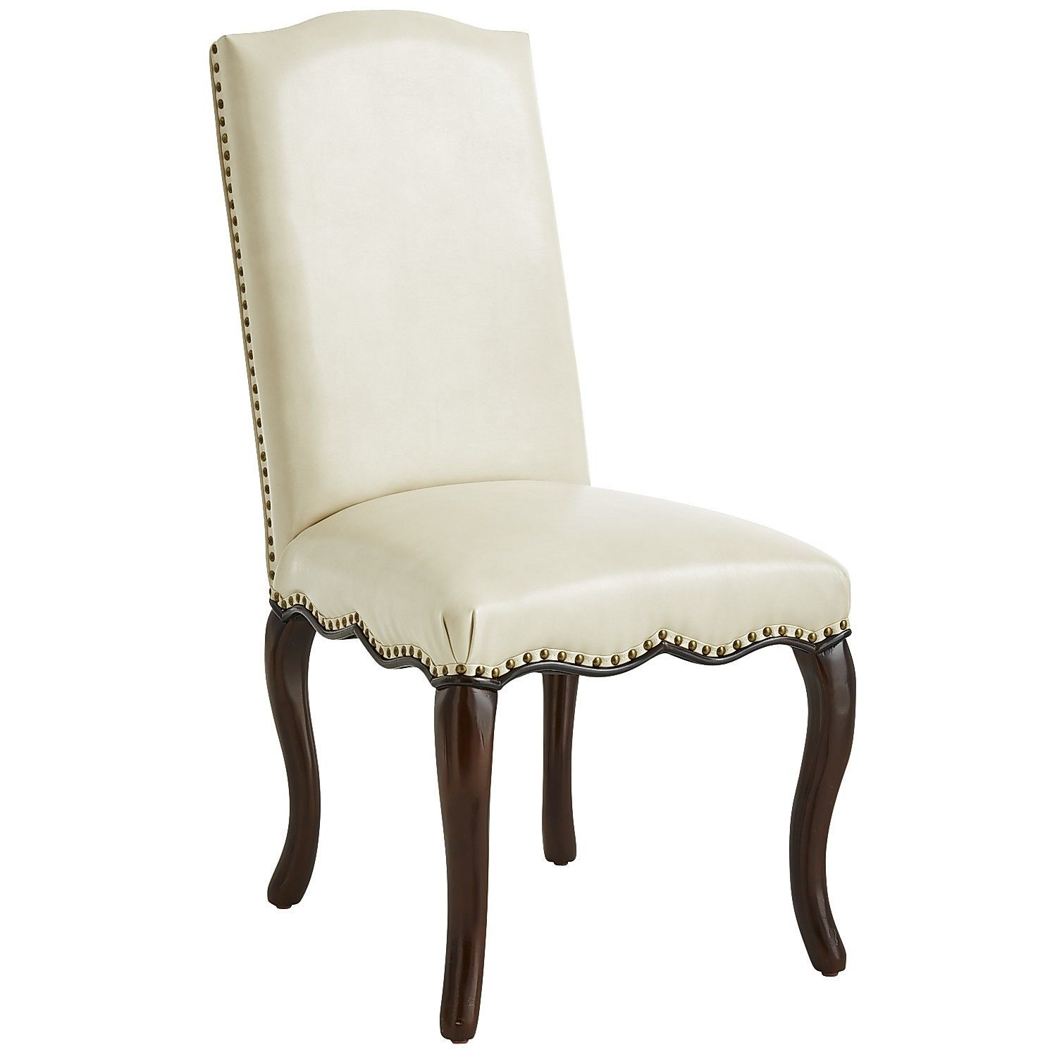 Ivory Dining Room Chairs Custom Claudine Ivory Dining Chair  Ivory Nailhead Trim And Dining Chairs Inspiration Design