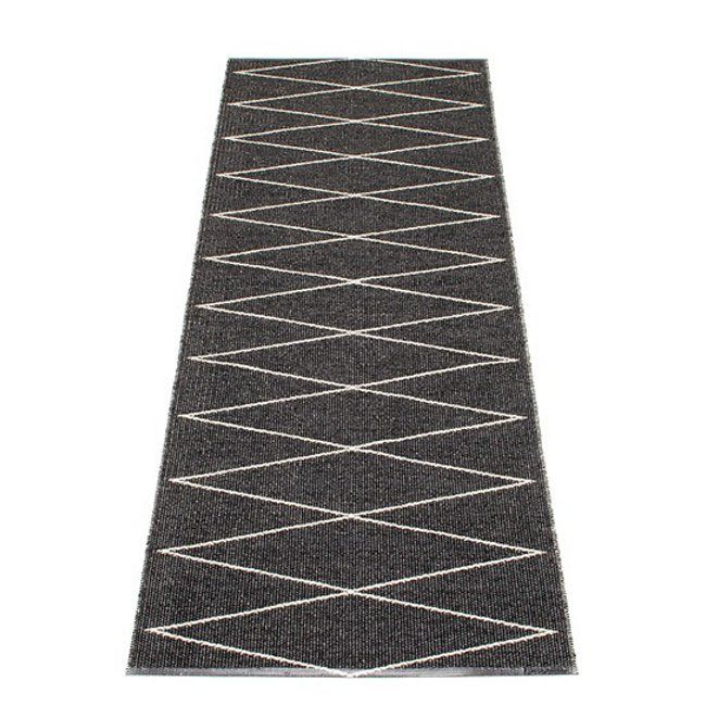 Black plastic rug in black, Max 70 x 240 from Pappelina