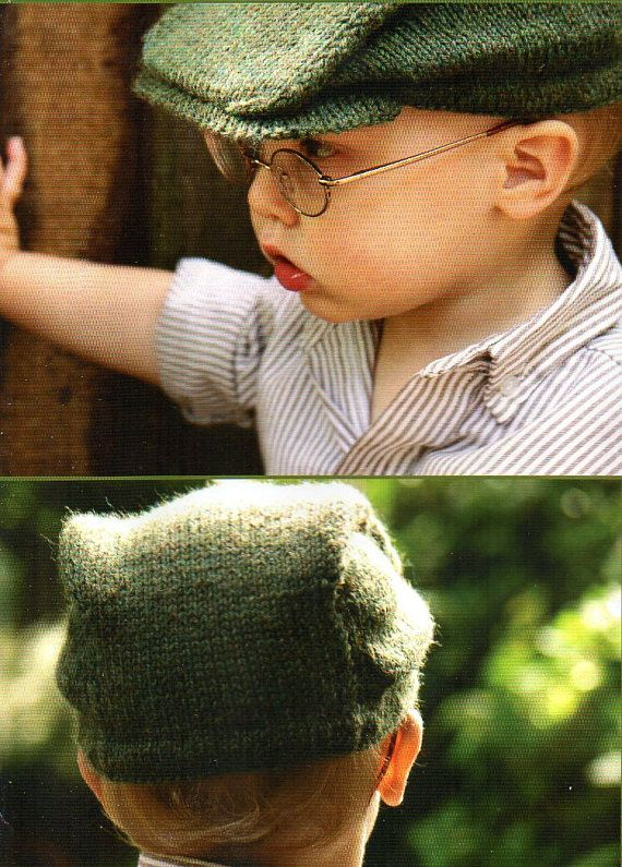 Boys Newsboy Cap Hat Knitting Pattern With Brim Child Toddler