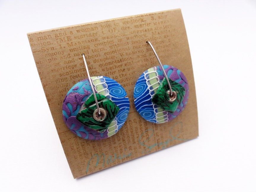 DE Wave 1 earrings, new design and style of stainless steel wires, new earring design by Marie Segal by mariesegal on Etsy