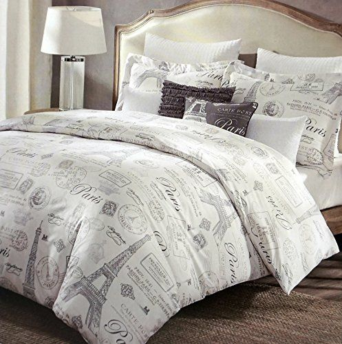 Paris French Vintage Duvet Quilt Cover By Designer Cynthia Rowley