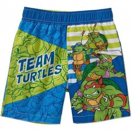 3869fe0d3a Teenage Mutant Ninja Turtles Baby Toddler Boy Team Swim Trunks ...