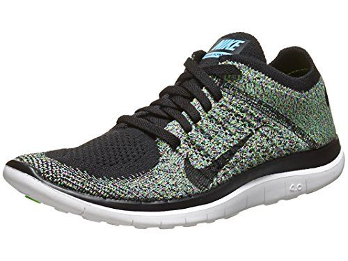 9c32e090d32da9 Nike Women s Free Flyknit 4.0 - Black   Black-University Blue-Electric  Green
