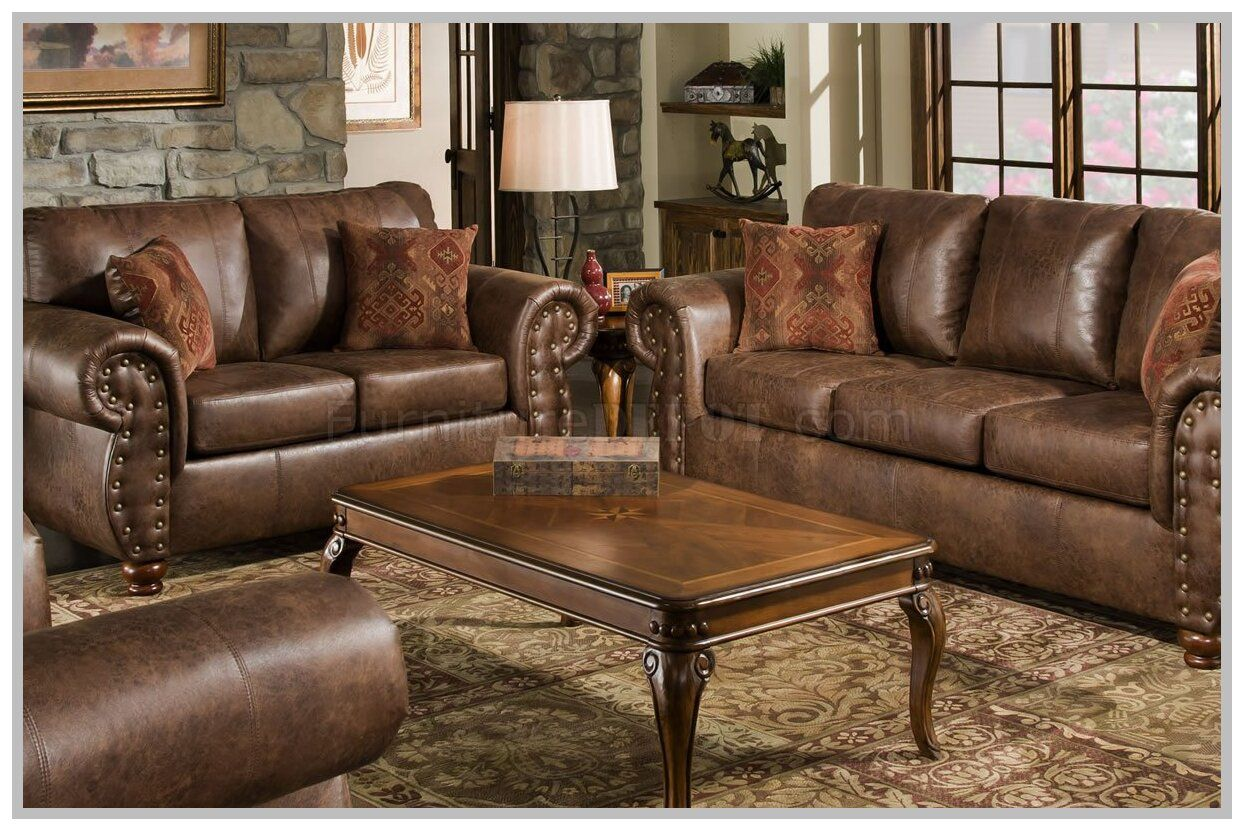 brown microfiber couch set