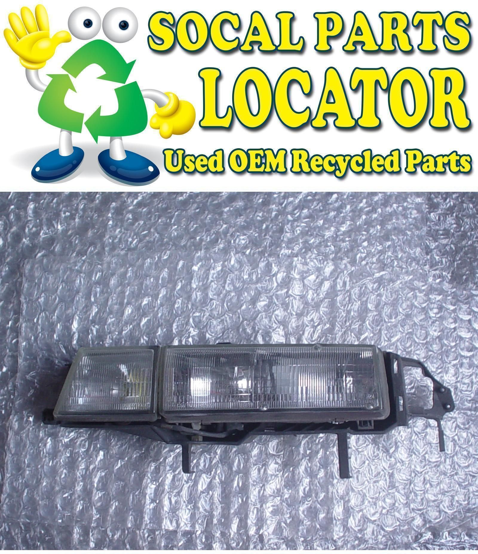 ACURA VIGOR LH HEADLIGHT HEADLAMP WITH FOG LAMP USED OEM So - Acura vigor parts