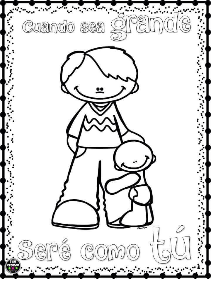 Lindos Dibujos Para Colorear Y Celebrar El Día Del Padre