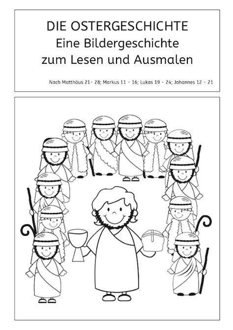 Ostergeschichte zum Lesen und Ausmalen - | Schule | Pinterest ...
