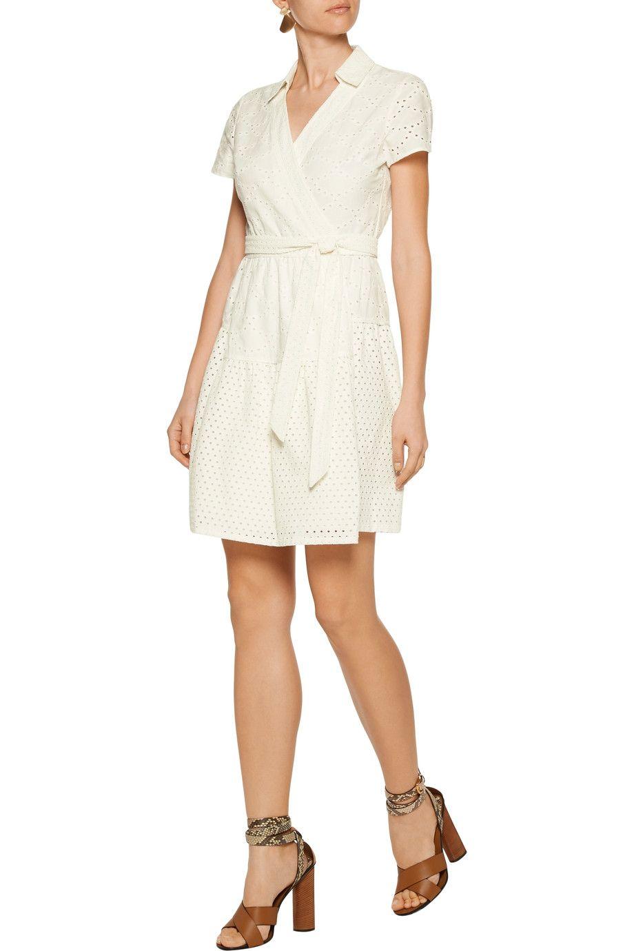 Shop On Sale Diane Von Furstenberg Kaley Wrap Effect Broderie Anglaise Cotton Dress Browse Other Discount Designer Dr Diane Von Furstenberg Wrap Dress Fashion [ 1380 x 920 Pixel ]