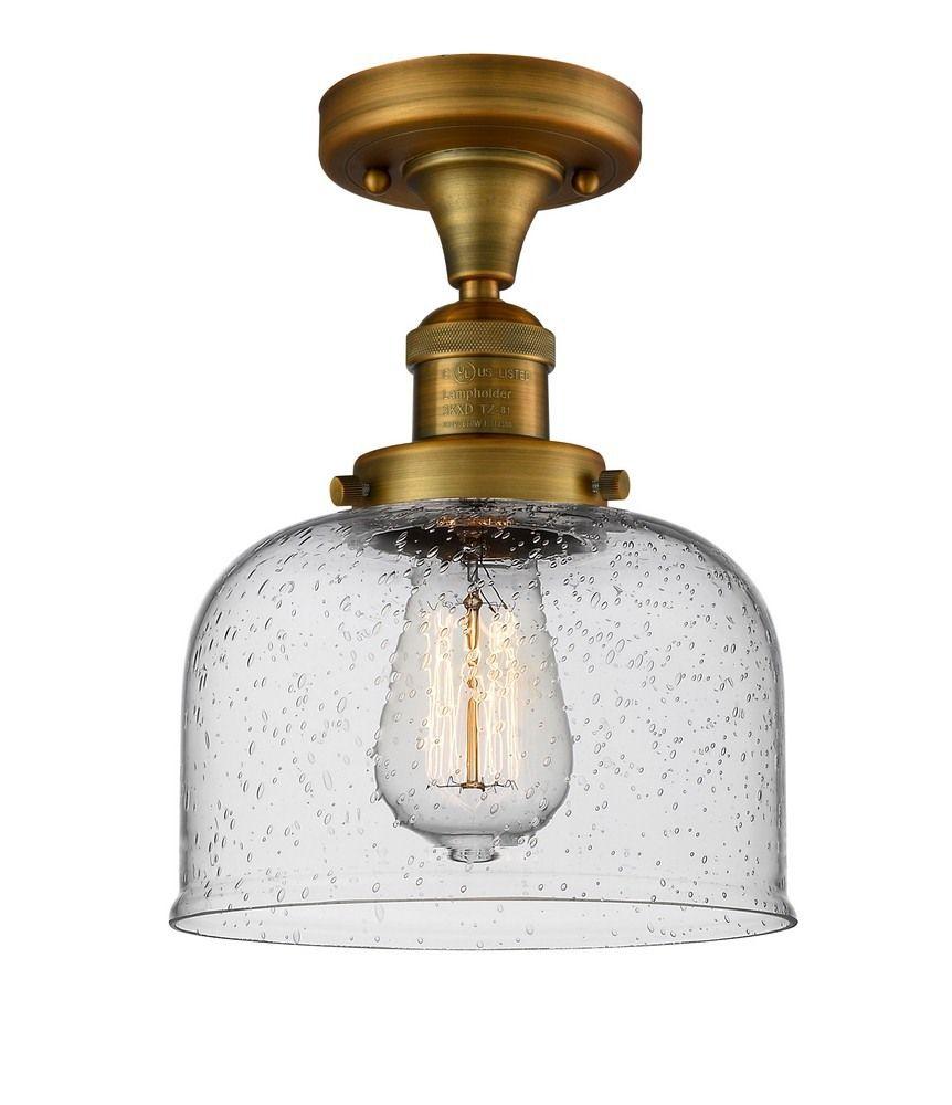 Lunawarehouse Large Bell One Light Semi Flush Mount Flush Mount Ceiling Lights Innovations Lighting Semi Flush Lighting