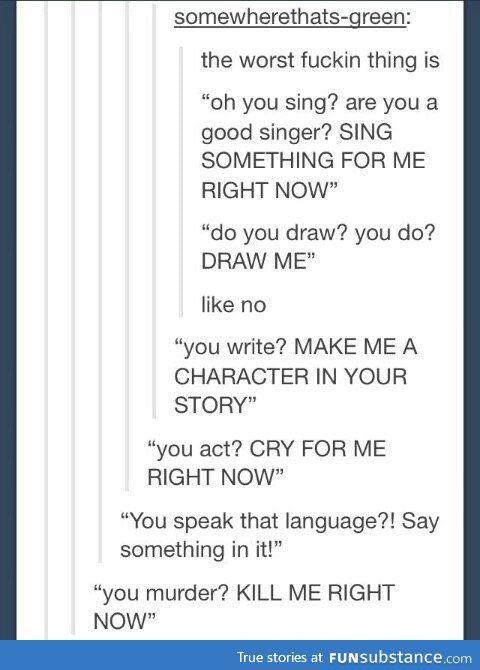 No, I won't speak French or Spanish for you - FunSubstance