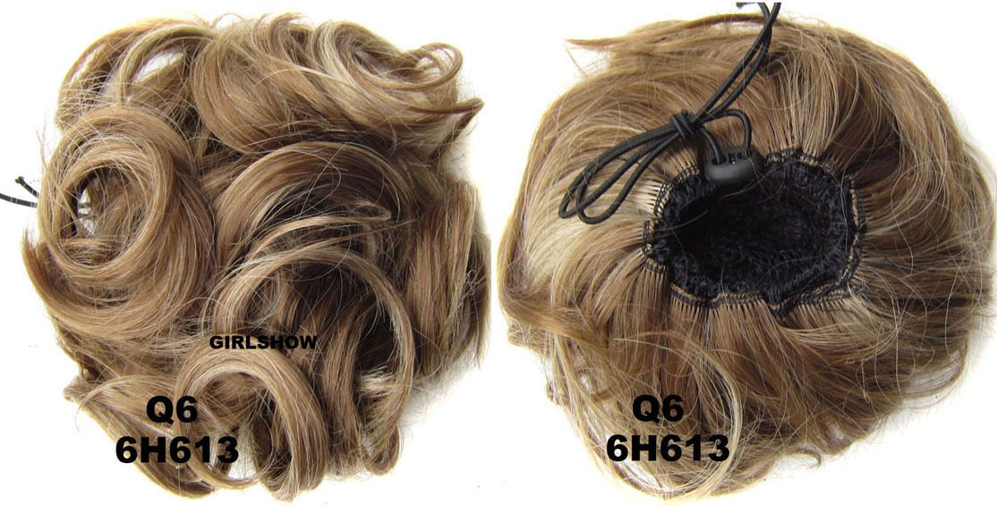 Ladies clean and bright curly and short hair buns drawstring ladies clean and bright curly and short hair buns drawstring synthetic hair extension bride scrunchies 6h613 pmusecretfo Gallery