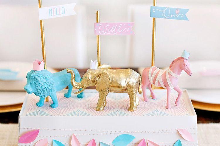 Baby Shower Decor Printables ~ Royal safari baby shower theme free printables {pink & blue