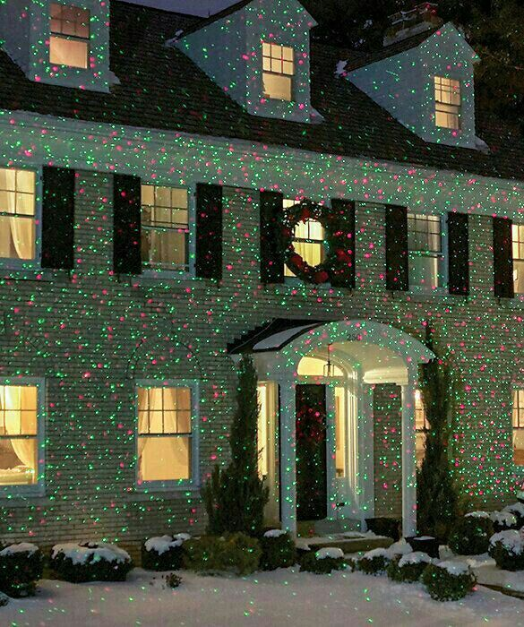 elf light laser show house projector any of the brookstone projectors and laser displays are neat i like the idea of no string of lights and its really