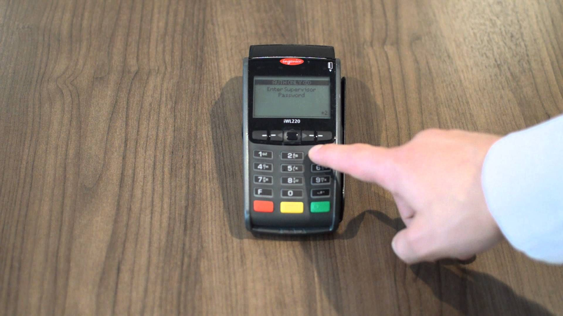 Helcim preauthorizing a credit card on an ingenico